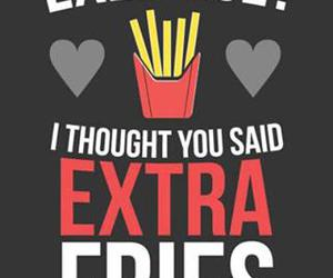 fries, funny, and food image