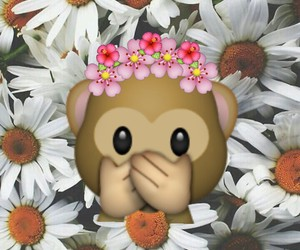 flowers, cute, and monkey image