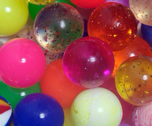 balls, glitter, and colors image