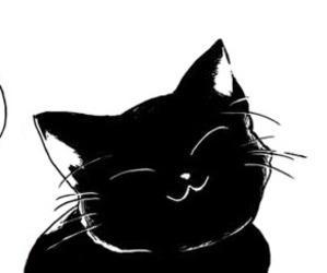 cat, meow, and manga image