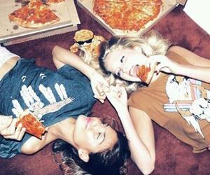 pizza, food, and girl image