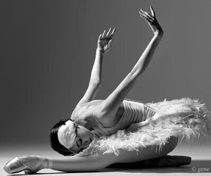 ballerina, black and white, and ballet image