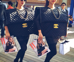bags, cara, and chanel image