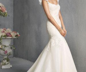 wedding dress, dress, and wedding gown image
