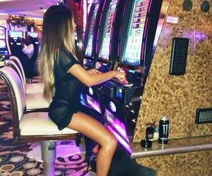 casino, girl, and Las Vegas image