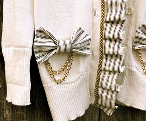 cardigan, fashion, and bow image