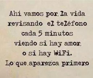 love, frases, and wifi image
