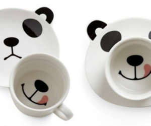 panda, cup, and kawaii image