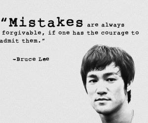 quote, mistakes, and bruce lee image
