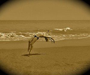 gymnastics and the beach image