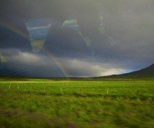 rainbow and green image