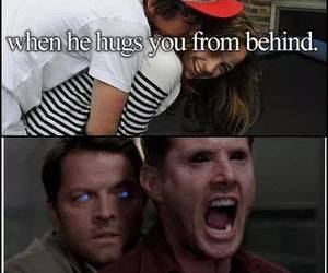 angel, dean winchester, and demon image