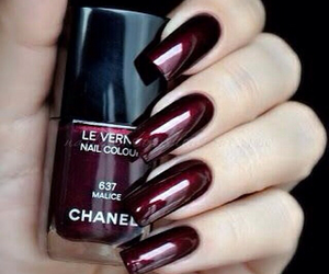 nails, chanel, and red image