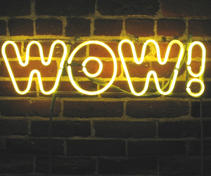 neon, yellow, and wow image