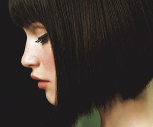 beautiful, girl, and black hair image