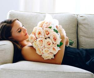 flowers, rose, and natalie portman image