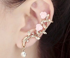 ear cuff, leaf ear cuff, and ear cuff earring image