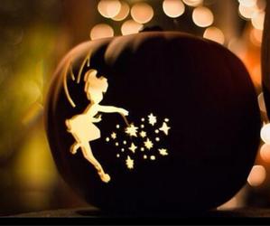 Halloween, pumpkin, and tinkerbell image
