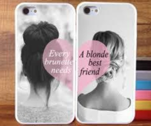 best friends, blonde, and phone image