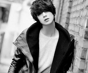 ulzzang, won jong jin, and black and white image