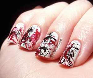 nails art and halloween nail image