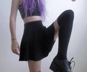 grunge, black, and hair image