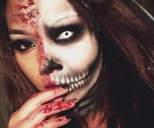 Halloween, make up, and scary image
