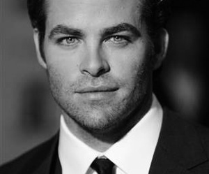 actor, black white, and chris pine image