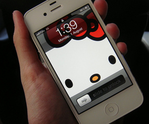 hello kitty, iphone, and cute image