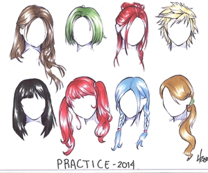 anime, colour, and girl hair image