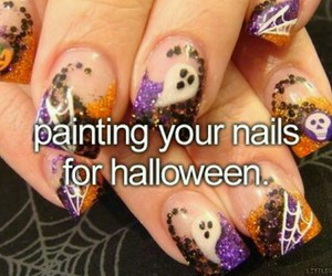 chic, Halloween, and nails image