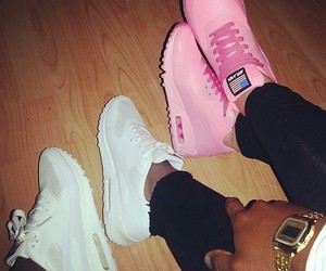 white, nike, and pink image