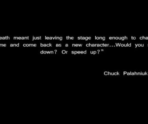 chuck palahniuk, quote, and typography image