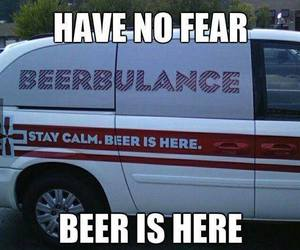 funny, beer, and ambulance image