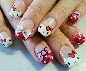 design, nail art, and hello kitty image
