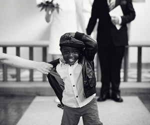 wedding, black, and child image