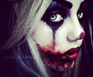 Halloween, clown, and blood image