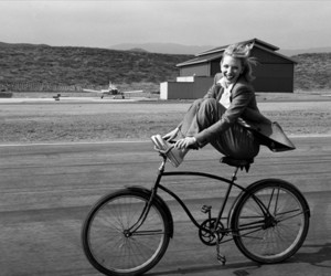 b & w, bicycle, and bike image