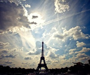 cloud, eiffel tower, and landscape image