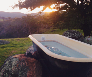 bath, nature, and relax image