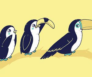 funny, penguin, and art image
