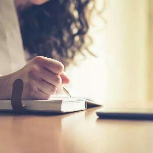book, writing, and girl image