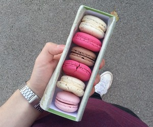 macaron, macarons, and pink image