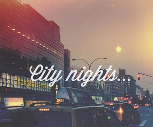 night, city, and light image