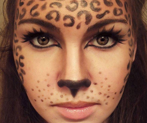 Halloween, makeup, and leopard image