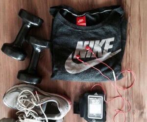 black, clothes, and earphones image
