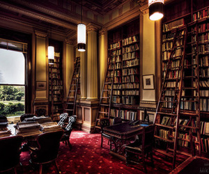 books, house, and library image