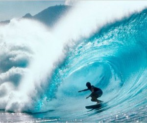 beach, wave, and surfer image