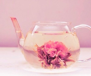 flowers, tea, and vintage image