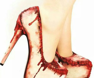 Halloween, red, and zapatos image